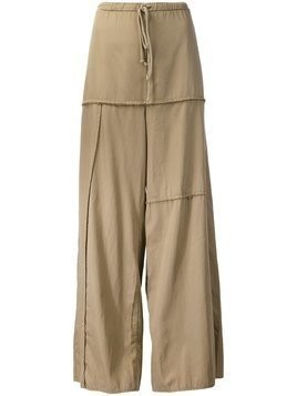 Lost & Found Rooms panelled wide leg trousers - NEUTRALS