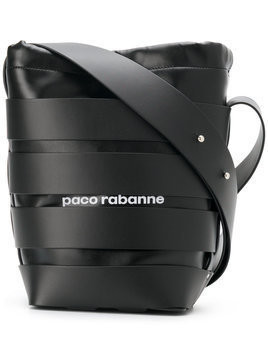 Paco Rabanne - logo bucket bag - Damen - Leather - One Size - Black