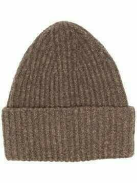 Acne Studios rib-knit beanie hat - Brown