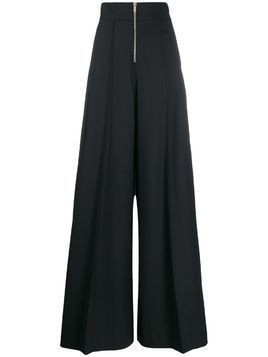 Maison Margiela zip detail wide-leg trousers - Blue