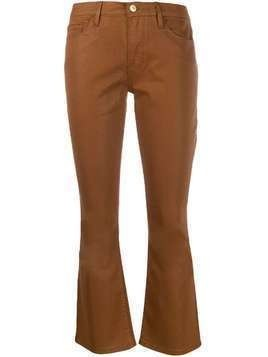 Frame cropped kick-flare jeans - Brown
