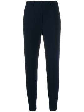 Blanca high-rise cropped trousers - Blue