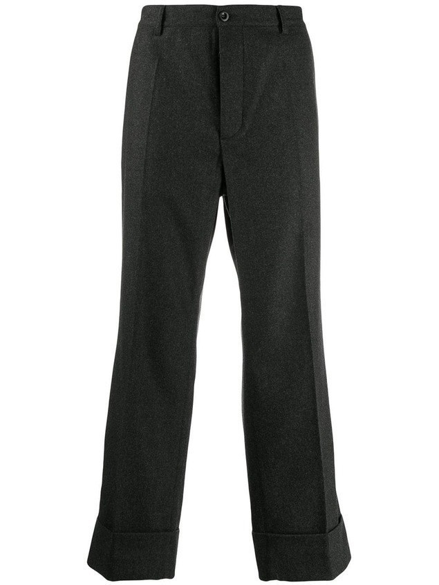 Maison Margiela straight pull-on trousers - Grey