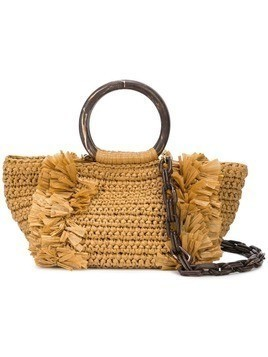 Carolina Santo Domingo woven tote bag - KHAKI