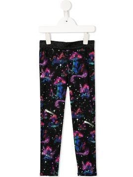 Stella McCartney Kids mushroom print trousers - Black