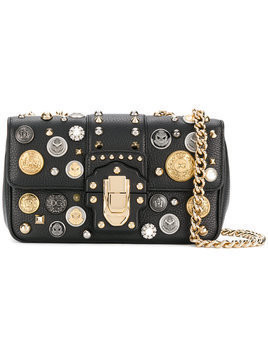 Dolce & Gabbana Lucia embellished shoulder bag - Black