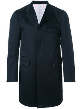 Thom Browne Cotton Twill Classic Unconstructed Chesterfield Overcoat - Blue