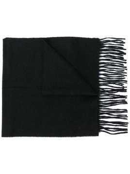 Barbour fringed knit scarf - Black