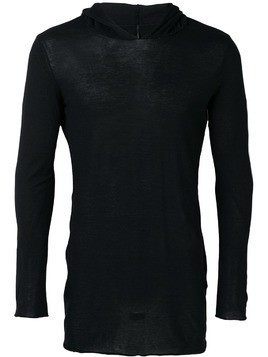 Masnada hooded jersey top - Black