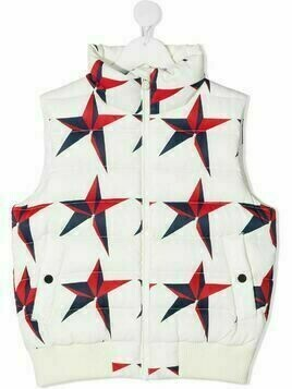 Perfect Moment Kids star-print quilted gilet - White
