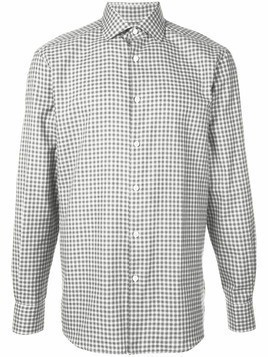 Ermenegildo Zegna check shirt - Black