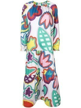 Mira Mikati floral flared maxi dress - Multicolour