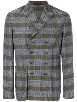 The Gigi checked straight-fit jacket - Green