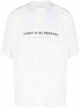 VETEMENTS slogan-print short-sleeved T-shirt - White