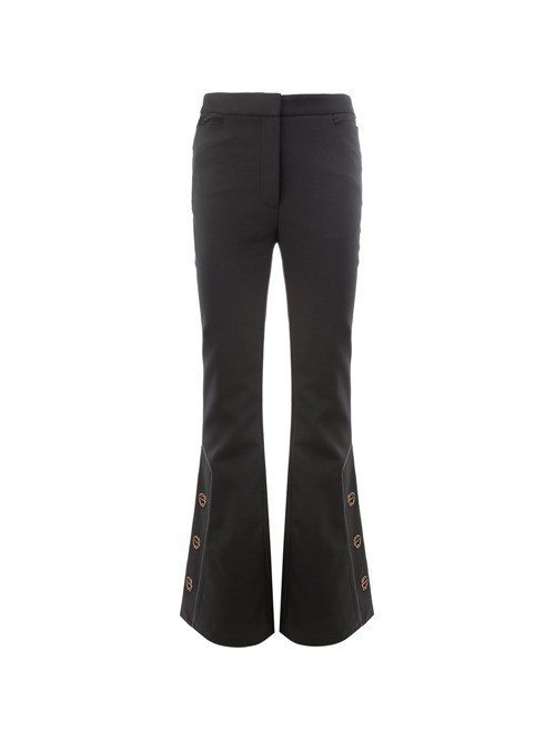 Ellery flared button trousers - Black