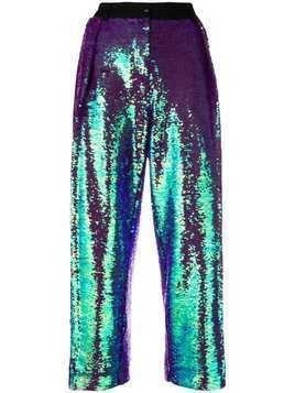 Peter Jensen pleated sequin trousers - Purple
