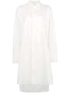 Y-3 tunic length collared shirt - White