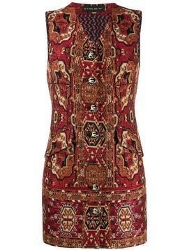 Etro embroidered jacquard mini dress