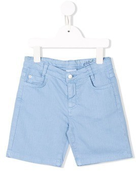 Knot knee-length shorts - Blue