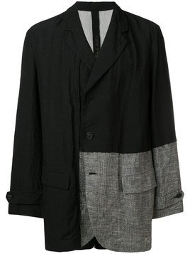 Forme D'expression contrast-panel blazer - Black