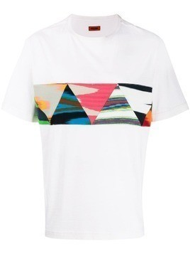 Missoni patchwork triangle T-shirt - White