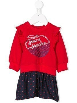 Little Marc Jacobs contrast sweater dress - Red