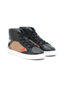 Burberry Kids Mini Haypack hi-top sneakers - Black