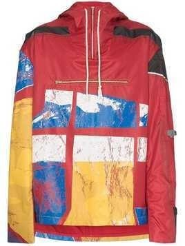 Bethany Williams graphic-print hooded raincoat - Multicolour
