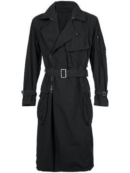 The Viridi-Anne belted trench coat - Black