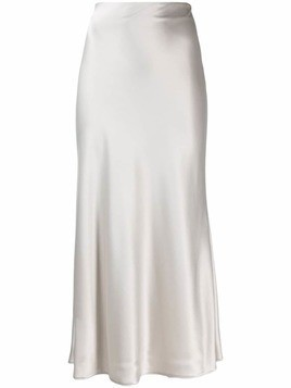 Galvan midi slip skirt - Grey