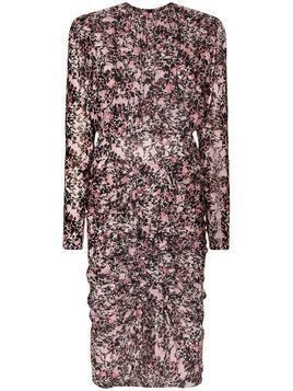 Giambattista Valli ruffled floral-print silk dress - PINK