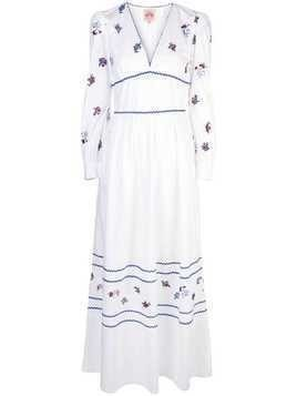 Le Sirenuse floral embroidered dress - White