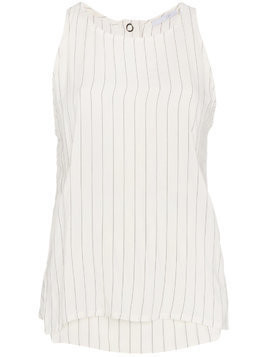 Lot78 Striped Sleeveless Top - White