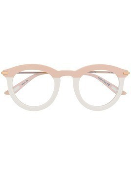 Christian Roth Eyewear round two-tone frame glasses - PINK