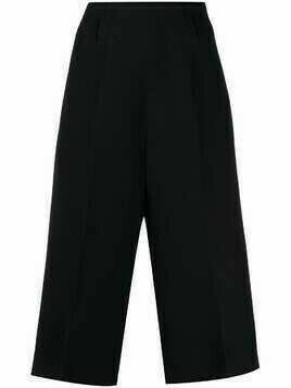 Christian Dior pre-owned cropped wool trousers - Black