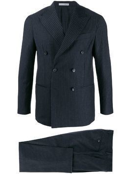 0909 fitted double-breasted suit - Blue