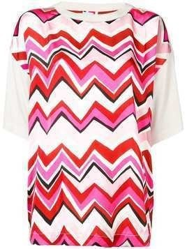 M Missoni zigzag panel T-shirt - White