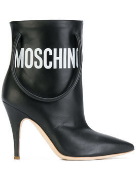 Moschino handbag strap ankle boots - Black