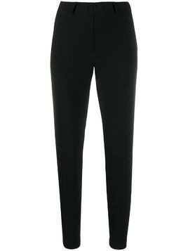Blanca high-rise cropped trousers - Black