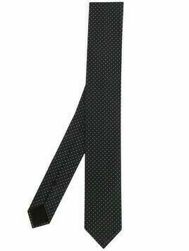 BOSS polka dot pattern tie - PURPLE