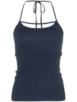 Jacquemus cross front thin strap cami top - Blue