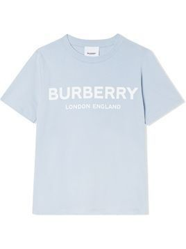 Burberry Kids logo print relaxed-fit T-shirt - Blue