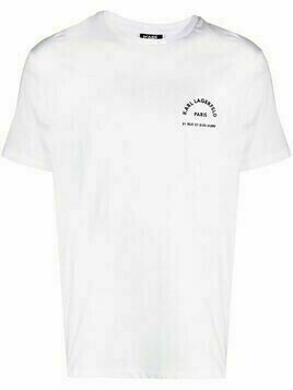 Karl Lagerfeld chest logo T-shirt - White