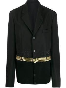 Haider Ackermann embroidered detail blazer - Black