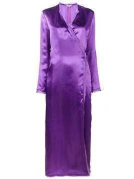 Attico Raquel wrap dress - Pink & Purple