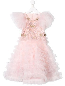 Mischka Aoki floral tulle dress - Pink