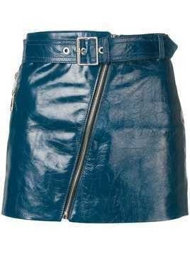 Manokhi biker skirt - Blue