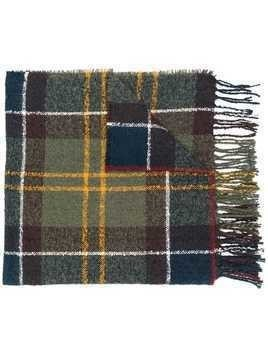 Barbour oversized tartan scarf - Green