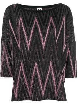 M Missoni metallic knitted top - Pink