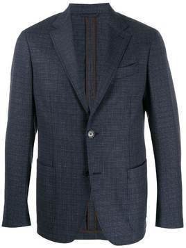 Ermenegildo Zegna fitted single-breasted blazer - Blue